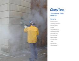 2016 Cleaner Times media kit